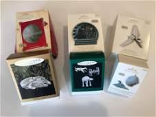 BOX LOT CHRISTMAS INCLUDING 6 STAR WARS HALLMARK