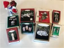 BOX LOT CHRISTMAS INCLUDING 8 HALLMARK STAR WARS