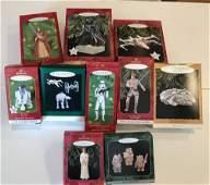 BOX LOT CHRISTMAS INCLUDING 10 HALLMARK STAR WARS