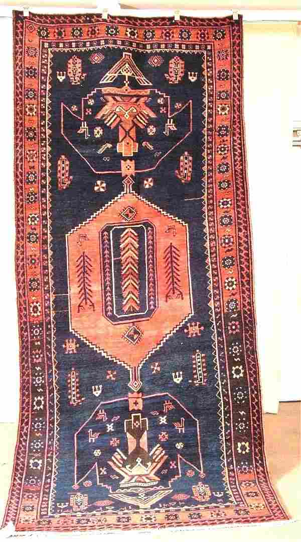 15094: ORIENTAL RUG SEMI ANTIQUE PERSIAN AFSHAR 4.9 X 1