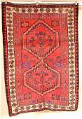 15100: ORIENTAL RUG SEMI ANTIQUE PERSIAN AFSHAR 4.9 X 6