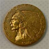 1912 US INDIAN HEAD 250 DOLLAR GOLD COIN