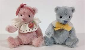 R JOHN WRIGHT PINKY  BABY BLUE MINIATURE TEDDY