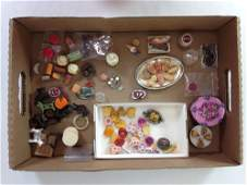 LOT MISCELLANEOUS DOLLHOUSE FOOD ITEMS INCLUDES CAKES