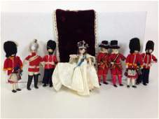 10 4 VINTAGE GRECON MADE IN ENGLAND DOLLS INCLUDING
