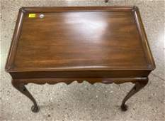KITTINGER QUEEN ANNE STYLE MAHOGANY LAMP TABLE WITH