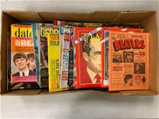 LARGE BOX LOT BEATLES COLLECTIBLE MAGAZINES FROM THE