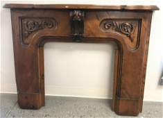 "VICTORIAN HANDCARVED FIREPLACE MANTEL, 65"" x 49.5"""
