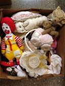 LOT MISCELLANEOUS DOLL ITEMS. ALL ITEMS SOLD AS IS.