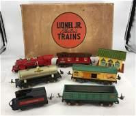 LIONEL PREWAR O GAUGE JUNIOR TRAIN SET #1054 IN