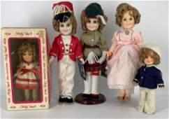 "(5) 1980's Ideal vinyl Shirley Temple dolls - (3) 12"""