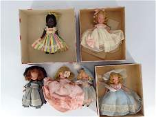 (6) VINTAGE BOXED AND UNBOXED NANCY ANN STORYBOOK DOLLS