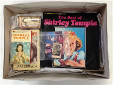LOT OF SHIRLEY TEMPLE ITEMS INCLUDING 2 BOOKS POP