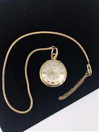 Vintage Gold Filled Pocket Watch On Fob