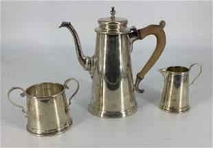 Three Piece Sterling Silver Coffee Service Set