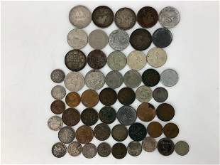 Lot of Assorted Foreign Coins