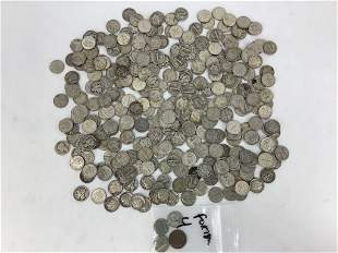 317 Dimes and 4 Foreign Coins