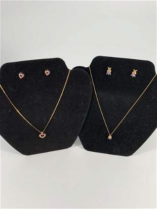 Two Gold Fashion Jewelry Sets