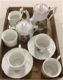 BOX LOT ROOSEVELT BEAR CHINA TEA SET