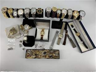 Box Lot of Wrist and Pocket Watches