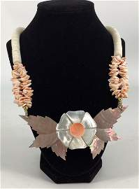 Mixed Materials Fashion Necklace