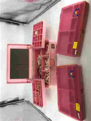 Vintage Pink Caboodles Accessory Caddy With Contents
