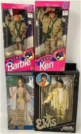 (4) boxed Barbie and friends including Mattel Canada