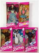 "(5) NRFB BARBIES INCLUDING ""NAVY"", (2) ""AIR FORCE"","