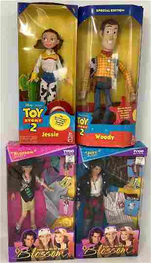 """(4) boxed dolls including """"Blossom Russo"""" and """"Joey"""