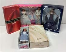 "(5) NRFB Barbie and friends including ""Wedding Fantasy"""