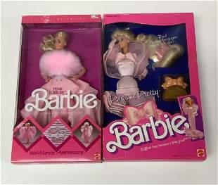 """(2) NRFB vintage 1987 Barbies including """"Perfume"""