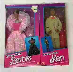 """(2) NRFB vintage 1985 African American """"Dream Glow"""""""