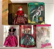 "(5) NRFB Barbie and friends including ""Wedding"