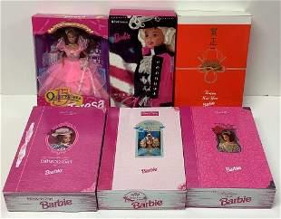 (6) NRFB Barbie and friends including FAO Schwarz