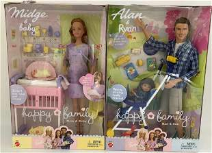 "(2) NRFB Happy Family sets including ""Midge & Baby"" and"