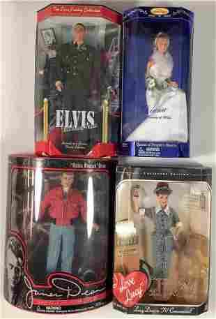 (4) NRFB personality dolls including Diana, Princess of