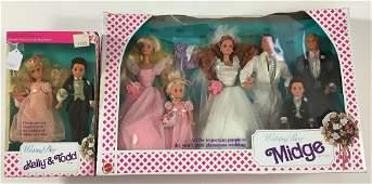 "(2) NRFB Wedding sets including ""Wedding Party"" Midge"