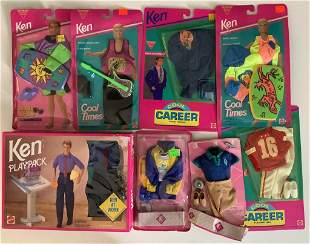 """Lot of NRFB Ken fashions including (4) """"Cool Looks"""","""
