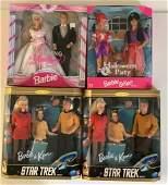 """(4) NRFB Barbie and Ken gift sets including (2) """"Star"""