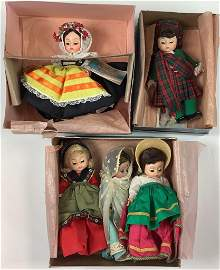 "(5) 8"" Madame Alexander boxed and unboxed country dolls"