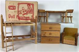 "Lot Strombecker Doll Furniture for 8"" dolls. Includes"