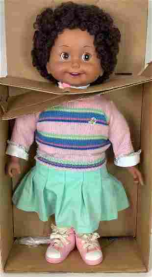 """1986 Playmates African American """"Cricket"""" talking doll"""