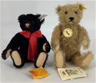 "(2) Steiff Teddy Bears. Includes 10"" Classic teddy bear"