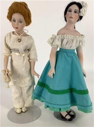 "(2) 14"" Artist designed dolls. Includes ""Katie"" by"