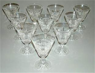 (10) WATERFORD CRYSTAL GOBLETS