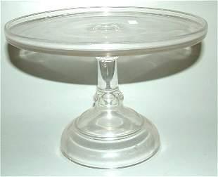 """PRESSED GLASS CAKE SALVER 7""""H X 10 1/4""""DIAM"""