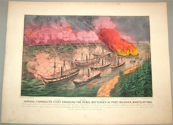 5609: CURRIER & IVES HAND COLORED SM FOLIO ADMIRAL FARR