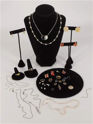 Lot of Assorted Fashion + Costume Jewelry and