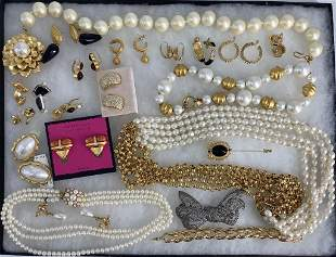 Tray of Signed Fashion Jewelry and Accessories
