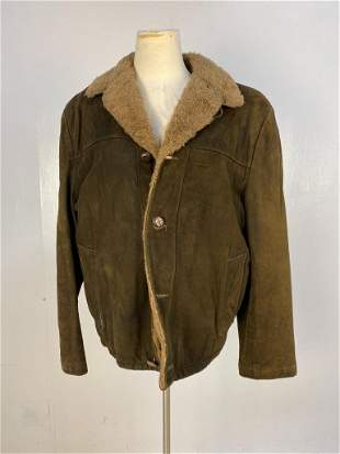 Vintage Suede & Fur Coat